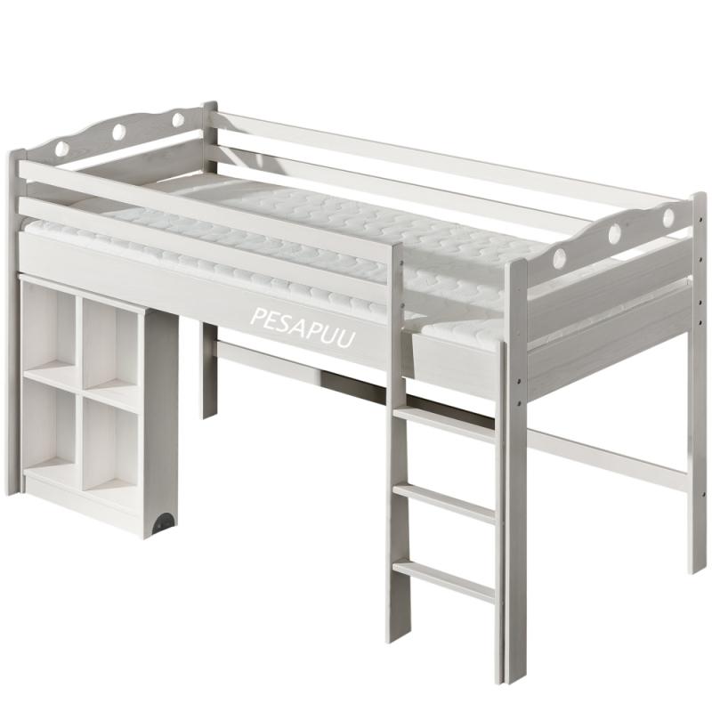 Poolkõrge voodi Mila 90x200 lauaga