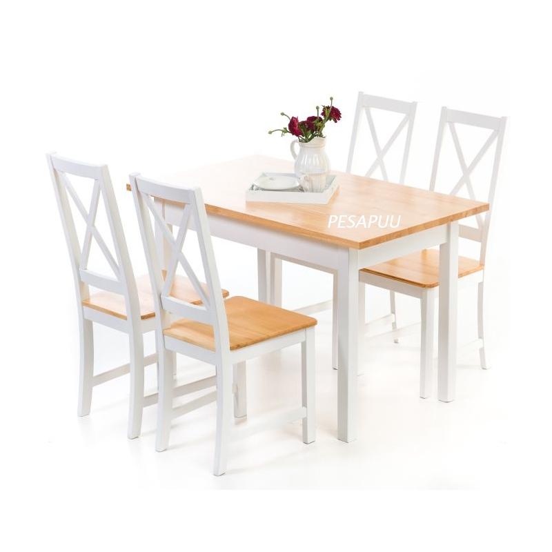 Laud Kaisa 120x70 5165L + 4 tooli Kaisa 5165T