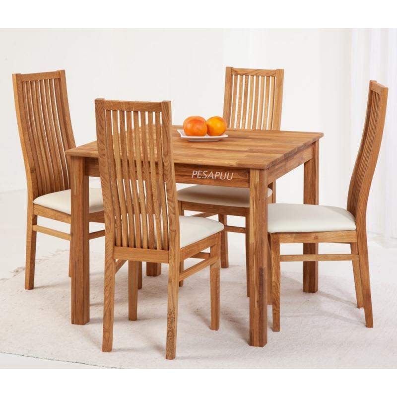 Laud Lem 90x90 9241 + 4 tooli Sandra