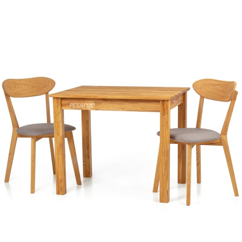 Laud Lem 90x65 9242 + 2 tooli Irma