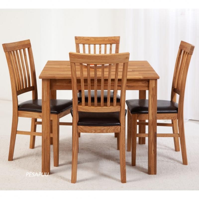 Laud Lem 90x90 9241 + 4 tooli Ronny