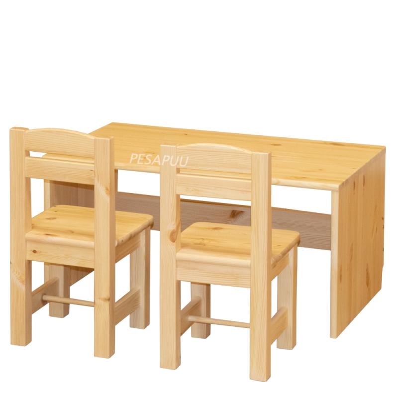 Mänguasjadekast-laud + toolid Kalli