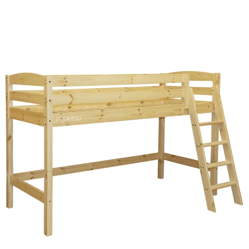 Poolkõrge voodi Kalli 90x200 kaldredeliga