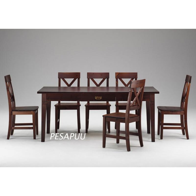 Lauakomplekt Monaco laud 389/1 + 6 tooli, põhitoonid