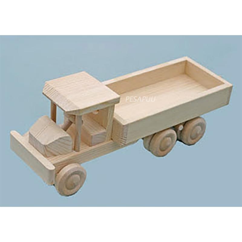 Puidust auto pikk-kastiga, väike