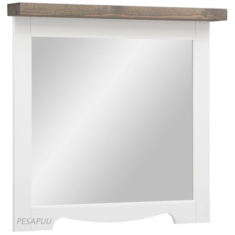 Peegel Trinidad M051, valge/hall