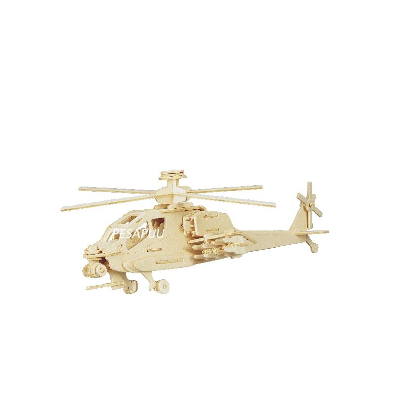 3D pusle Apache Helikopter