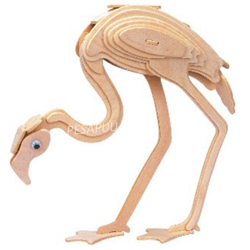 3D pusle Flamingo