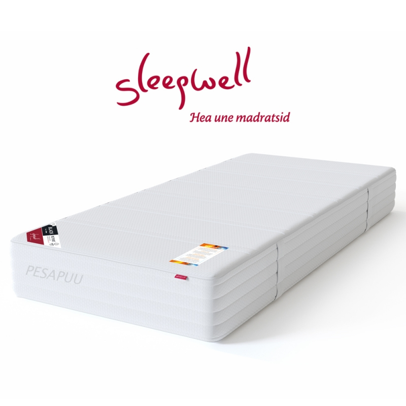 Vedrumadrats BLACK Multipocket  Low 80x200 Sleepwell