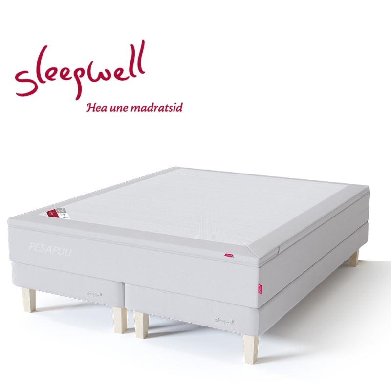 Kontinentaalvoodi RED alusraamil pehme 160x210 Sleepwell, erimõõt