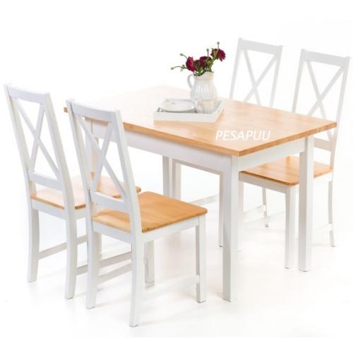 Laud Kaisa 120x70 5165L + 4 tooli Kaisa 5165T PESAPUU.jpg