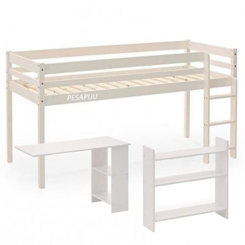 Poolkorge voodi Nova 80x200 riiuli ja lauaga PESAPUU.jpg