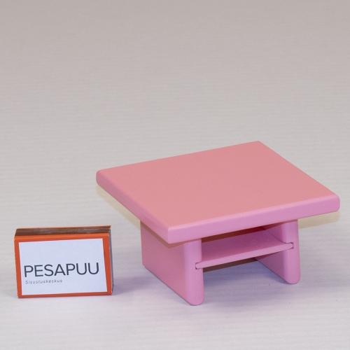 Nuku diivanilaud kandiline Roosi roosa PESAPUU.jpg