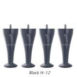 Vedruvoodi Hypnos jalad šampuseklaasi kujulised Black H-12