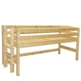 Poolkõrge voodi Kalli 90x200 püstredeliga