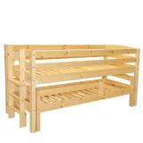 Poolkõrge voodi Kalli 90x200 püstredeliga + voodi piiretega
