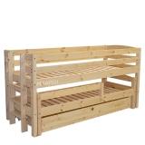 Poolkõrge voodi Kalli 90x200 püstredeliga komplekt