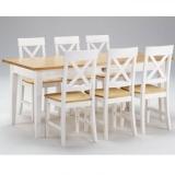 Lauakomplekt Monaco laud 389/1 + 6 tooli, kombineeritud