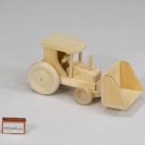 Puidust traktor kopaga, väike